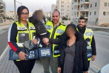 חריש: ילד אשר ננעל ברכב בשגגה לעיני אמו חולץ בשלום על ידי כונני ידידים