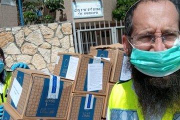 """מאות מתנדבי """"ידידים"""" מסייעים בשינוע אוכל ותרופות למבודדים ולאוכלוסייה מוחלשת באזור לוד ורמלה"""