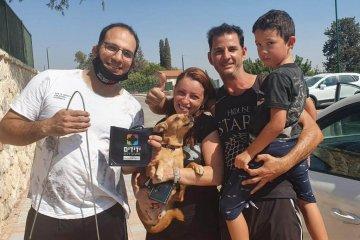 קיבוץ תל יוסף במועצה האזורית הגלבוע: כונן ידידים חילץ כלבה שננעלה ברכב