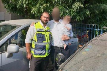 """פעוט שננעל ברכב בשגגה באלעד חולץ בשלום ע""""י כונני ידידים"""