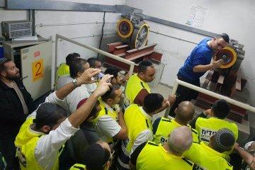 מנצלים את הפוגת האש לטובת הכשרת כוננים לחילוץ לכודים ממעליות