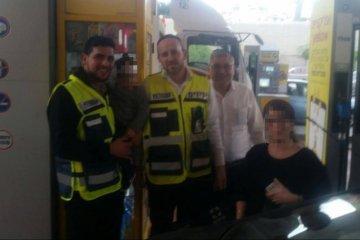 גבעת שמואל: תחנת דלק פז פעוט ננעל ברכב וחולץ במהירות