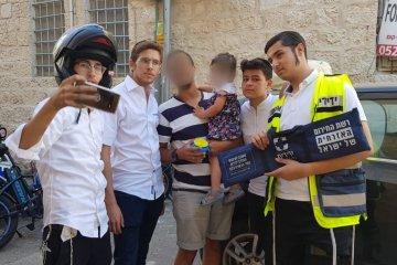 """ירושלים: פעוטה שננעלה בשגגה ברכב חולצה בשלום ע""""י כונני ידידים"""