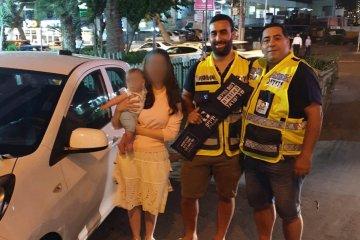 פעוטה שננעלה בשגגה ברכב בירושלים חולצה בשלום על ידי כונני ידידים