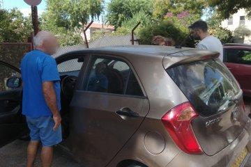 ילד שננעל בשגגה ברכב בכפר סבא חולץ בשלום על ידי כונני ידידים