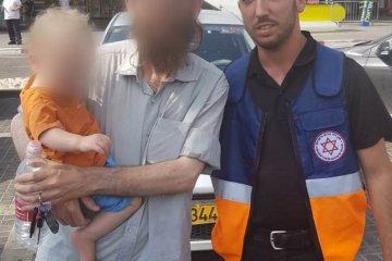אריאל: ילד שננעל ברכב בשגגה לעיני אביו חולץ בשלום על ידי כונני ידידים
