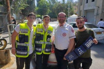 נער עם צרכים מיוחדים שננעל בשוגג ברכב בירושלים חולץ בשלום על ידי כונני ידידים