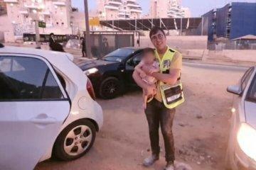 מודיעין עילית:תינוקת שננעלה בשגגה ברכב חולצה בשלום על ידי כונני ידידים
