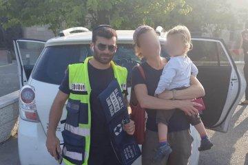 ילד שננעל בשגגה ברכב לעיני אימו בירושלים חולץ בשלום על ידי כונן ידידים