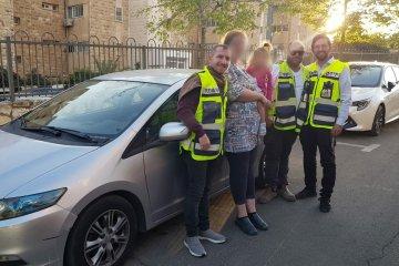 ירושלים: כונני ידידים חילצו ילדה אשר ננעלה ברכב בשכונת רמת שרת