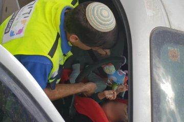 ילד שננעל בשגגה ברכב לעיני אמו ביישוב מבוא חורון במועצה האזורית מטה בנימין, חולץ בשלום על ידי כונן ידידים