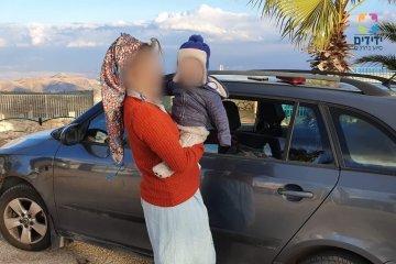 פעוט שננעל ברכב בשגגה לעיני אמו ביישוב מגדלים שבמועצה אזורית שומרון חולץ בשלום על ידי כונני ידידים