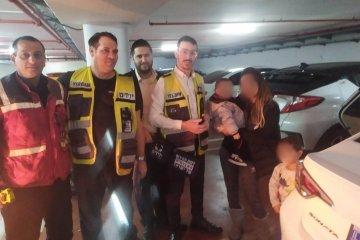 ראשון לציון: תינוקת שננעלה בשגגה ברכב לעיני הוריה חולצה בשלום על ידי כונני ידידים