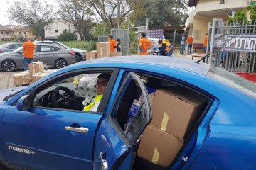 כפר סבא: קמחא דפסחא בצל הקורונה • כונני ידידים חילקו עשרות סלי מזון • הסלים סופקו על ידי העירייה