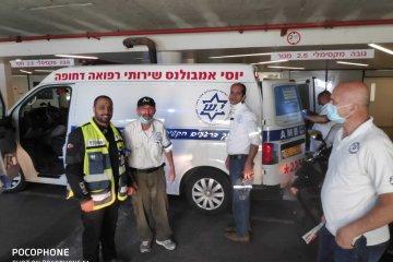 תל אביב: חולה ננעל בשגגה בתוך אמבולנס לעיני חובשי רפואת החירום, וחולץ במהירות על ידי מתנדב ידידים