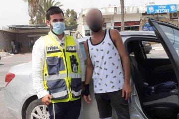בית שאן: ילד בן 3 ננעל בטעות ברכב לעיני אביו • כונן ידידים חילץ אותו במהירות ובשלום