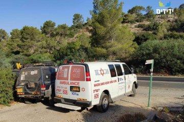 נחל דולב: בן 40 נפצע במהלך ריצה בשטח • מפקד יחידת הג'יפים – ירושלים הוקפץ לתת מענה ראשוני • אמבולנס פינה את הפצוע במצב קל
