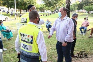 טקס הוקרה למתנדבים בעיר בת-ים, ביניהם מתנדבי ידידים