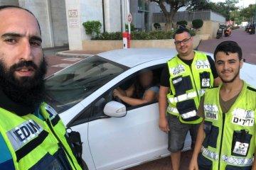 שלושה ילדים חולצו מרכב שננעלו בתוכו בנתניה