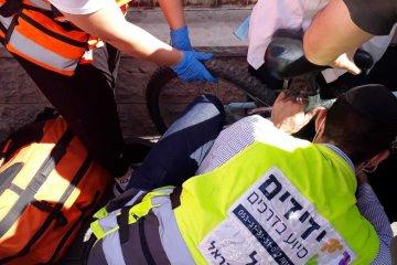 גבעת שאול: כונני ידידים חילצו בשלום רגל של ילד שנתקעה באופניו