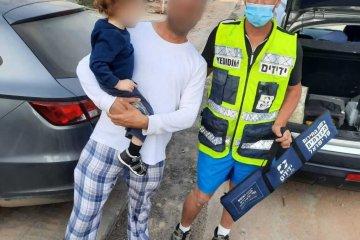 קרית גת: ילד ננעל בשגגה ברכב וחולץ במהירות על ידי כונני ידידים