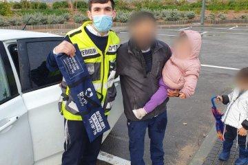 קרית גת: שני ילדים ננעלו בשגגה ברכב, כונני ידידים חילצו אותם במהירות ובשלום