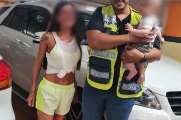 """תינוק כבין שנה ננעל מול עיני אמו ברכב בראשון לציון וחולץ ע""""י מתנדב ידידים"""