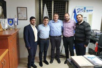 נציגי ארגון ידידים נפגשו עם ראש עיריית פתח תקווה מר רמי גרינברג