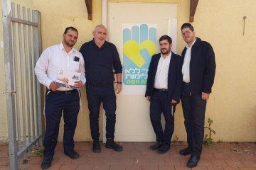 פתח תקווה: פגישה בין נציגי ידידים למר שלומי ערה- מנהלת תכנית עיר ללא אלימות