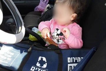 תינוקת שננעלה ברכב חולצה בשלום