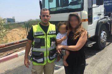 ראשון לציון: כונן ידידים חילץ בשלום ילד נעול ברכב