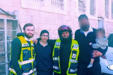 ירושלים: כונני ידידים חילצו בשלום תינוק שננעל ברכב