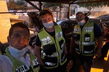 ירושלים: מתנדב ידידים סייע לאזרח בקריאה שהפכה לקריאת חירום ולחילוץ המתנדב עצמו