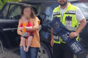 אגמים: תינוק ננעל ברכב המשפחתי