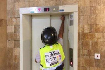 סיכום אירועי חילוץ לכודים ממעליות 31/07/2019