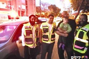 רחובות: כונני 'ידידים' חילצו ילד שננעל ברכב ברחוב ברנר בעיר